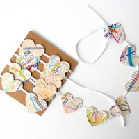 Paris Metro Garland Map Hearts 4 ft Home Decor Cute by LBCpaper / Buy it now - Playwho.com