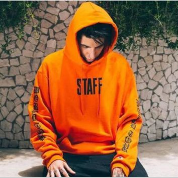 """Justin bieber""Hot letters pullover hoodie sweater Orange"