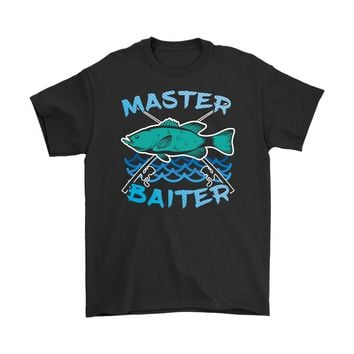 Funny Fishing Tee Master Baiter Graphic Gildan Mens T-Shirt