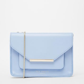 Ted Baker Patent Crosshatch Across Body Bag at asos.com