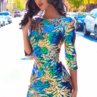 Iridescent Sequin Bodycon