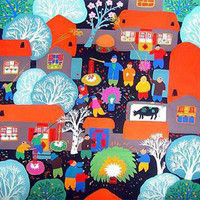 Tianjin Folk Painting - Spring Festival | Home Décor | Paintings & Calligraphy | Folk Paintings