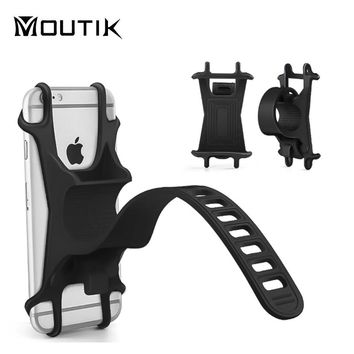 Universal silicone Bicycle Motorcycle Mobile Phone Holder