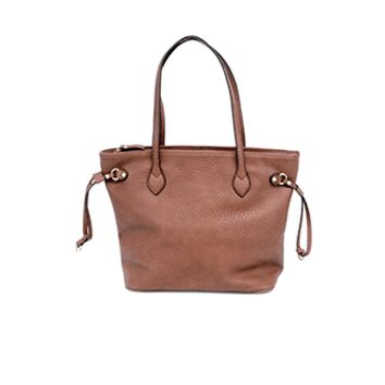 Brown Tote with Drawstring Joy Susan
