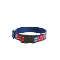 Americana Patchwork Dog Collar