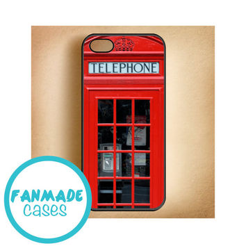 London Telephone Box 4/4s 5/5s/5c & iPod 4/5 Rubber Case