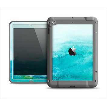 The Grungy Blue Watercolor Surface Apple iPad Air LifeProof Fre Case Skin Set