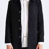 General Assembly Suede Collar Topcoat- Black