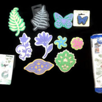 New Foam Stamps 12 LOT Ivy Leaf Fern Butterfly Flower Rubber Stamp Border Decoration Crafting Stamp