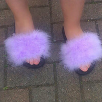 Lavender light purple fur slides