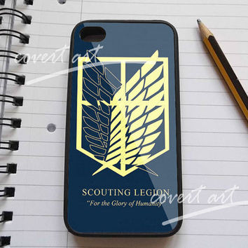 attack on titan recon corps logo iPhone 4 / 4S / 5 /5c /5s Case Samsung Galaxy S3 / S4 Case