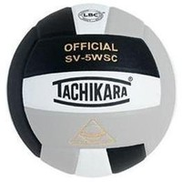 Tachikara Sensi-Tec Composite High Performance Volleyball (Black/White/Silver Gray)