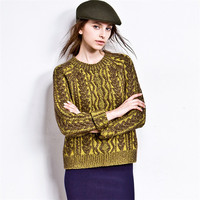 Hot Sale Vintage Twisted Cashmere Knit Tops Sweater [6351445124]
