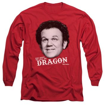 Step Brothers Long Sleeve T-Shirt Dragon Red Tee