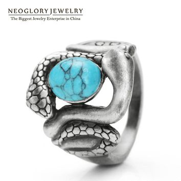 Neoglory Fashion Original Finger Rings Fashion Jewelry For Women 2017 New Arrival Hot Selling Vintage Snake Animal CLE QC2