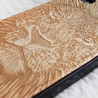 Natural Wood iPhone 4 4s Case  Engraved Lion iPhone by Jesswanda