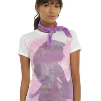 Disney Tangled Rapunzel Sublimation Silhouette Girls T-Shirt