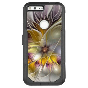 Abstract Colorful Fantasy Flower Modern Fractal OtterBox Commuter Google Pixel XL Case