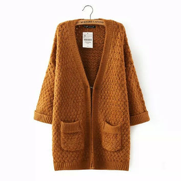 Winter Women's Fashion Twisted Sweater Jacket [4919231556]
