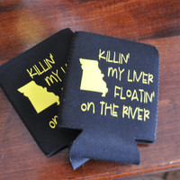 Personalized Koozie/ Float trip/ river/ Missouri/ camping trip