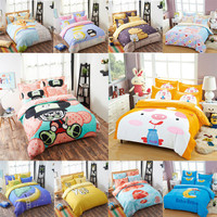 Bedding cartoon sanding four pieces