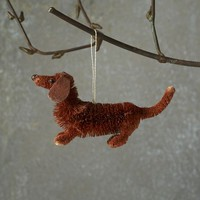 Bottle Brush Ornament - Dachshund