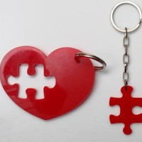 Puzzle Heart KeychainPlexiglass AccessoriesLasercut by bugga