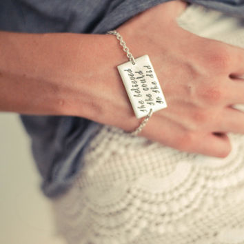 Hand Stamped Bracelet She Believed She Could So She Did