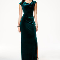 Vince Camuto Cowl-Neck Velvet Gown