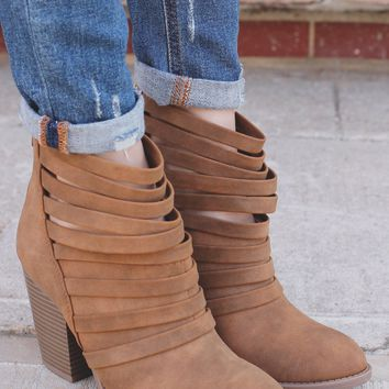 Downtown Denver Booties - Tan