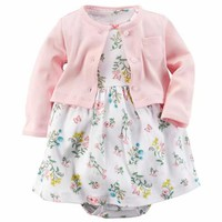 Baby Dress Baby Bodysuits summer Cute + 2pcs