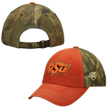 Oklahoma State Cowboys Top of the World Dirty Camo Adjustable Hat – Orange