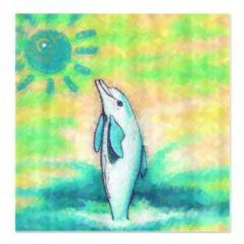Dolphin Painting Shower Curtain> Shower Curtains> We Tees You