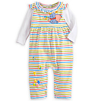 Dumbo Striped Coverall for Baby