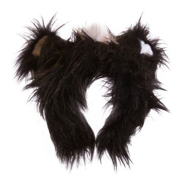 Wildlife Tree Plush Skunk Ears Headband Accessory for Skunk Costume, Cosplay, Pretend Animal Play or Forest Animal Costumes