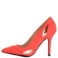 Cut-Out Pointed Toe Pumps