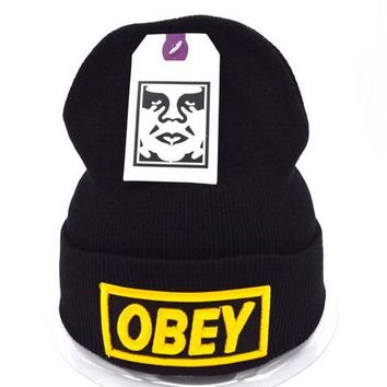 Obey Women Men Embroidery Beanies Knit Wool Hat Cap-24