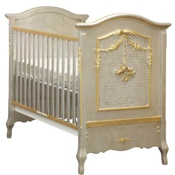 Bonne Nuit Crib in Silver and Gold Gilding