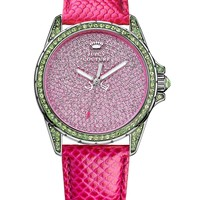 Juicy Couture Women's Stella Pink Embossed Leather Strap Watch 40mm 1901133