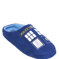 Doctor Who TARDIS Men's Slippers