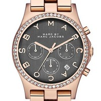 MARC BY MARC JACOBS 'Henry' Chronograph & Crystal Topring Watch, 40mm | Nordstrom