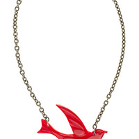 Classic Hardware Red Swallow Necklace
