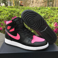 Air Jordan 1 GS Vivid Pink AJ1 Women Basketball Sneaker