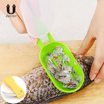UARTER Creative Multipurpose Home Kitchen Garden Cooking Tool Clean Convenient Scraping Scale Kill Fish With Knife Machine