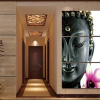 New  3 Pcs Buddha Divine Canvas Oil Painting Wall Art