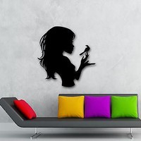 Wall Stickers Vinyl Decal Girl Teen Silhouette Bird Good Room Decor Unique Gift (ig720)