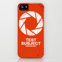 Aperture Science Test Subject t-shirt iPhone & iPod Case by R-evolution GFX