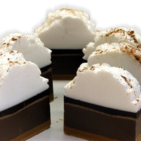 Smores Pie Fluffy Whipped Shea Butter Soap Bar by SweetbodySoaps