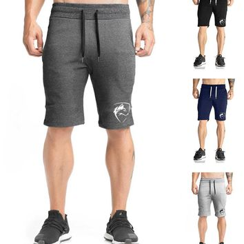 2018 New Fitness Men's Casual Shorts Bodybuilding Slim Breathable Cotton Jogger Workout Beach Shorts For Male Men Short pants