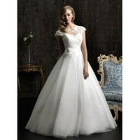 Feminine Ball Gown Vintage Wedding Dress - Star Bridal Apparel